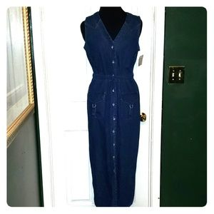 Faded Glory Denim Button Front Dress